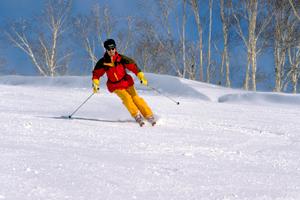 スキーの貸し出しも行っています。